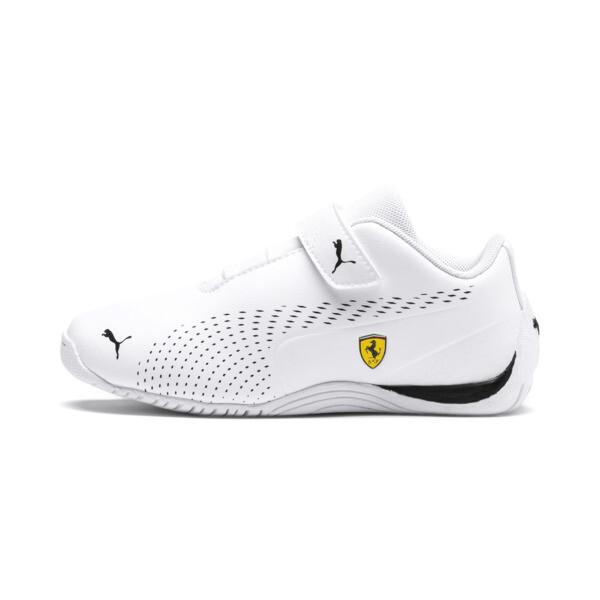 Ferrari Drift Cat 5 Ultra II V Kids' Trainers, Puma White-Puma Black, large