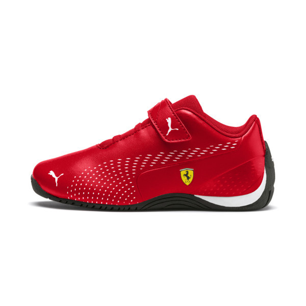 Ferrari Drift Cat 5 Ultra II V Kids' Trainers, Rosso Corsa-Puma White, large