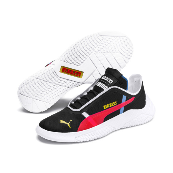 Pirelli Replicat-X Trainers, Black-Puma Red- White, large