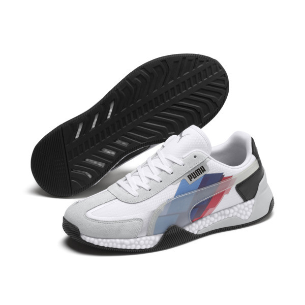 BMW M Motorsport Speed HYBRID Trainers, White-Glacier Gray-Black, large