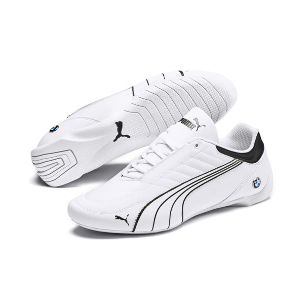 BMW M Motorsport Future Kart Cat Shoes, Puma White-Puma Black, large