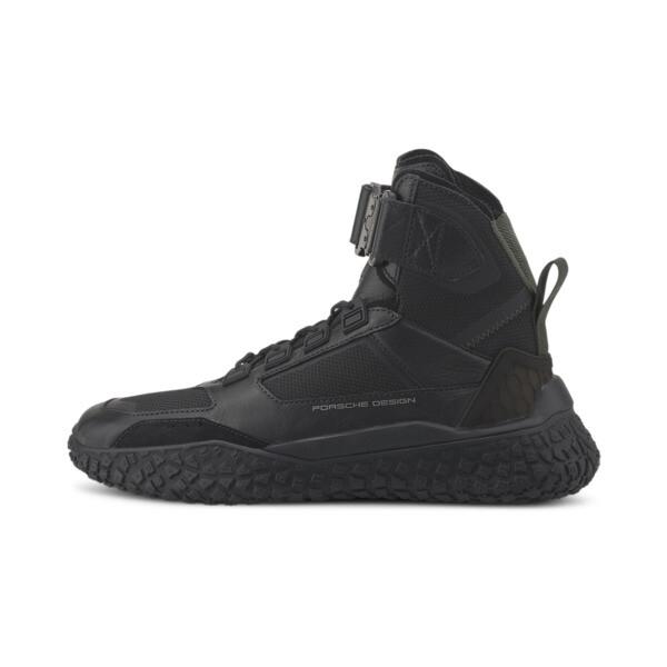 puma porsche design high octn men's motorsport shoes in jet black, size 12