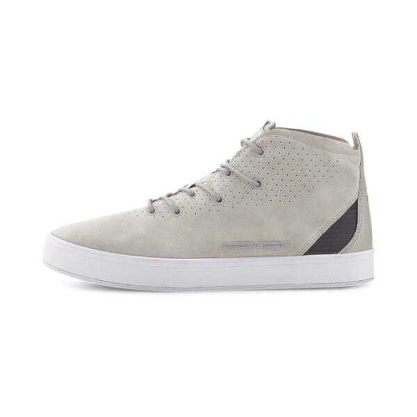 puma porsche design meister mid men's motorsport shoes in glacier grey, size 8