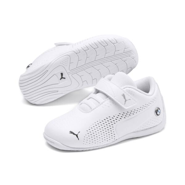 ZapatosBMW MMotorsportDrift Cat5Ultra II para bebé, Puma White-Puma Black, grande