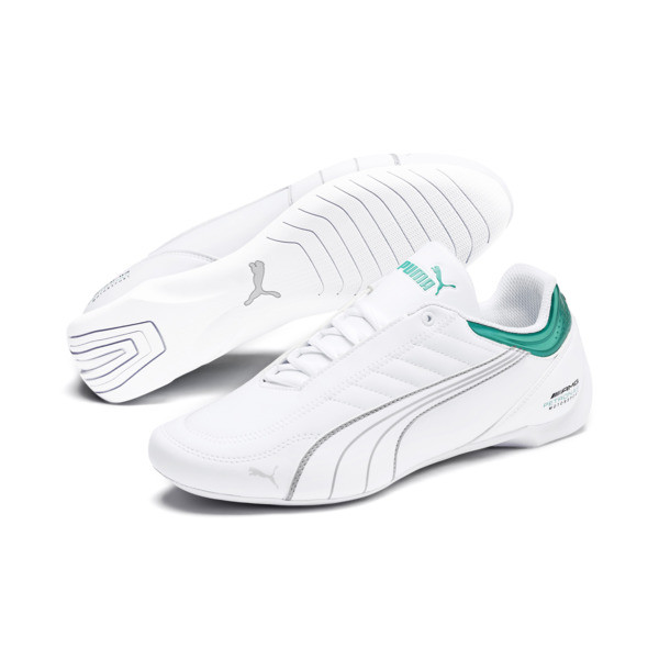 Mercedes AMG Petronas Future Kart Cat Shoes, Puma White-Mercedes Silver, large