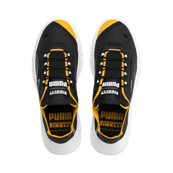 Replicat-X Pirelli Motorsport Shoes, Puma Black-Puma White-Zinnia, large