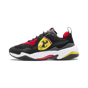 Thumbnail 1 of Ferrari Thunder Trainers, Puma Black-Rosso Corsa, medium