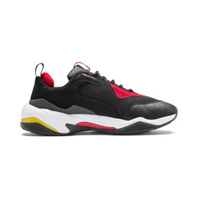 Thumbnail 5 of Ferrari Thunder Trainers, Puma Black-Rosso Corsa, medium
