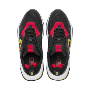 Thumbnail 6 of Ferrari Thunder Trainers, Puma Black-Rosso Corsa, medium