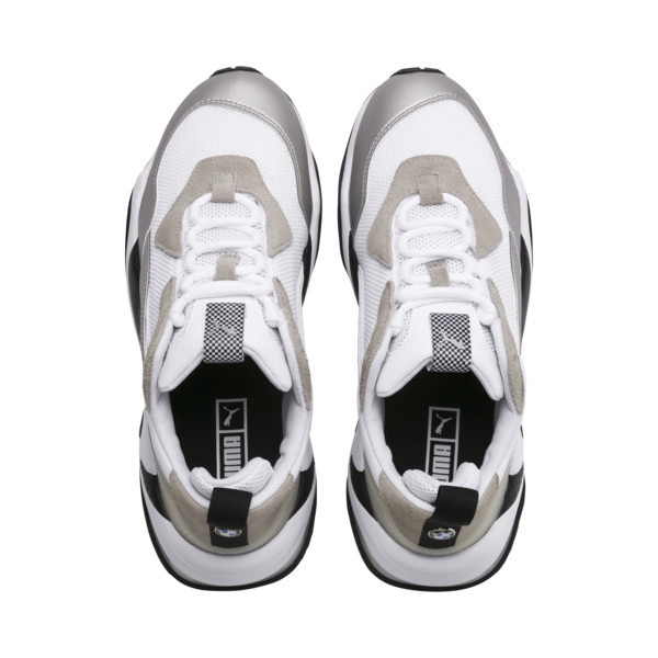 BMW Thunder Men's Trainers, Puma White-Puma Silver, large