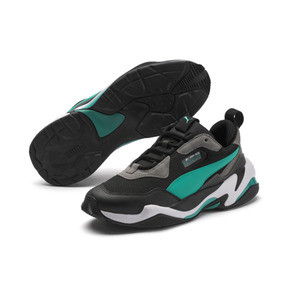 Thumbnail 2 of Mercedes AMG Petronas Thunder Men's Trainers, Puma Black-Spectra Green, medium