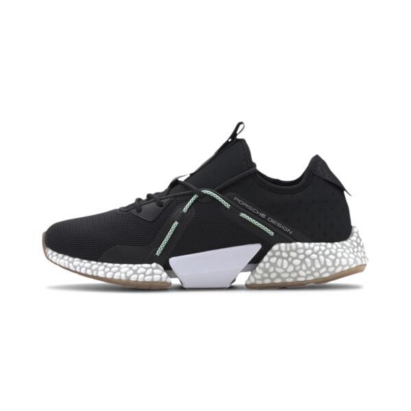 puma porsche design hybrid runner ii men's running shoes in jet black, size 8