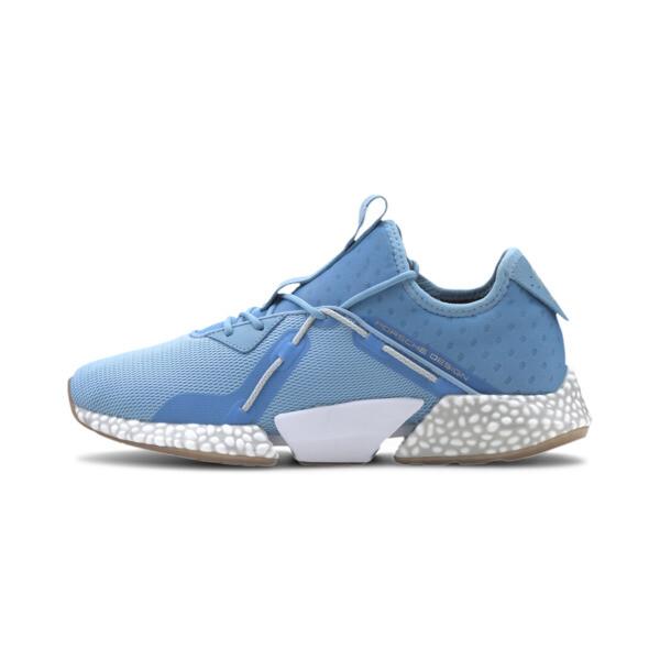 puma porsche design hybrid runner ii men's running shoes in ethereal blue, size 8