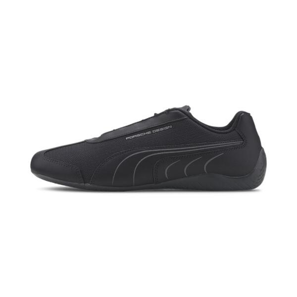 puma porsche design speedcat men's motorsport shoes in jet black, size 8