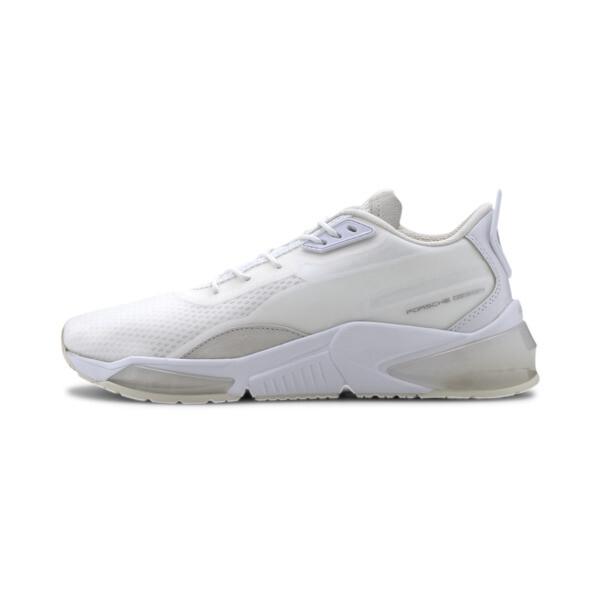 puma porsche design lqdcell men's training shoes in white, size 8