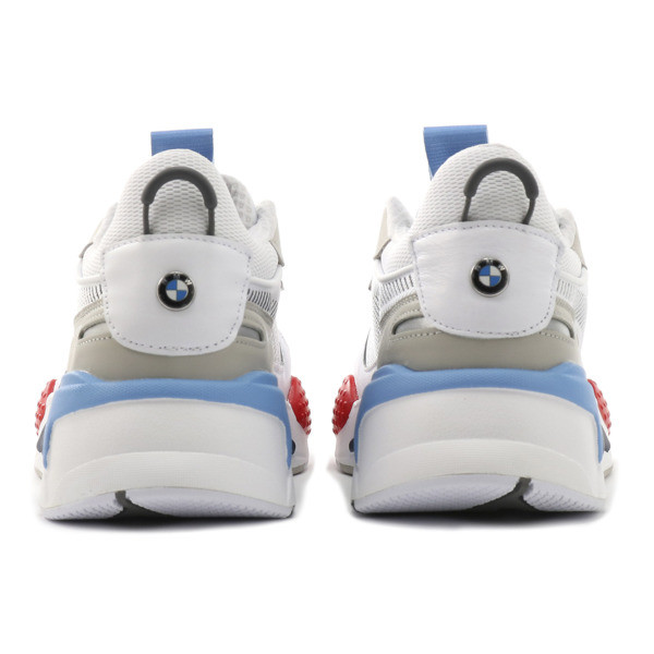 RS-X BMW MMS Sneakers, White-Gray Violet-Hgh Rsk Rd, large