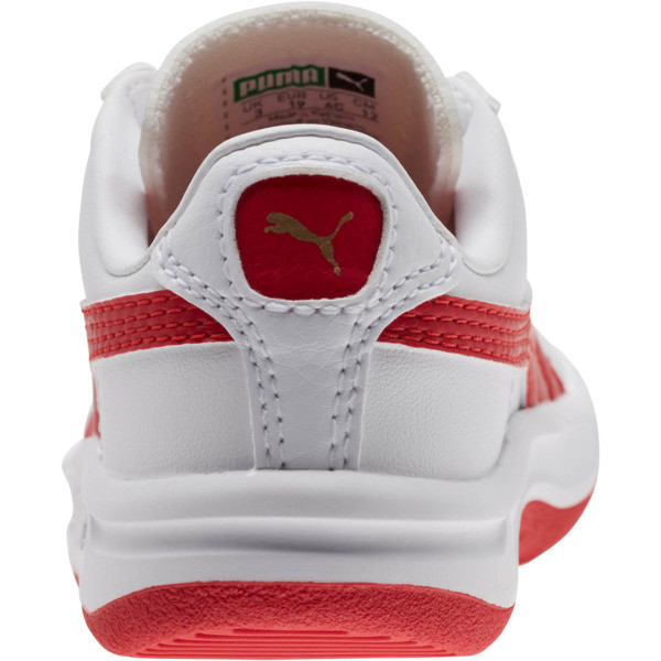 GV Special Toddler Shoes, Puma White-Ribbon Red, large