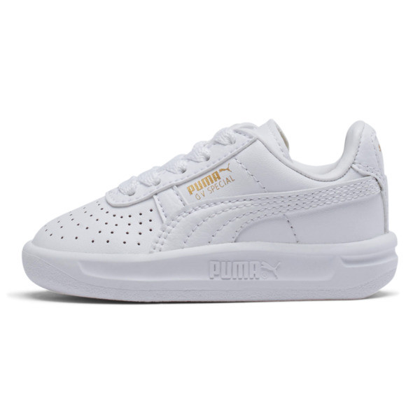 GV Special Toddler Shoes, Puma White-Puma Team Gold, large