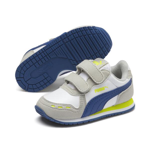 Cabana Racer SL babysportschoenen, Puma White-Galaxy Blue, large
