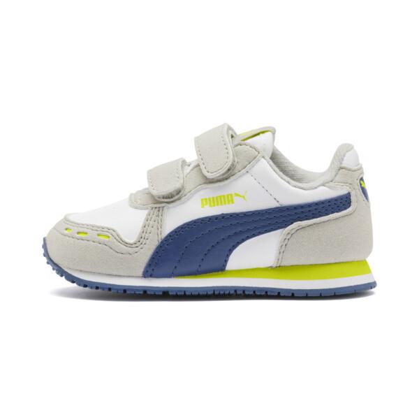 Zapatos Cabana Racer SL para bebés, Puma White-Galaxy Blue, grande