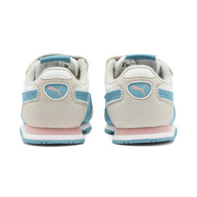 Thumbnail 3 of Cabana Racer SL Baby Trainers, Puma White-Milky Blue, medium