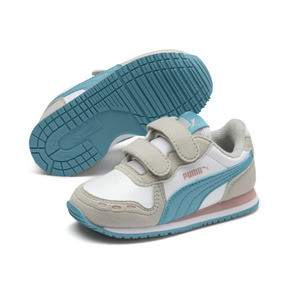 Thumbnail 2 of Cabana Racer SL Baby Trainers, Puma White-Milky Blue, medium
