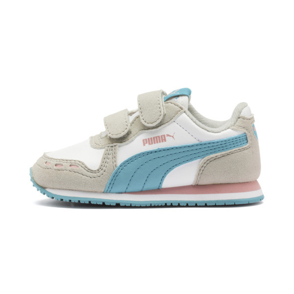 Cabana Racer SL Baby Sneaker, Puma White-Milky Blue, large