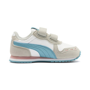 Thumbnail 5 of Cabana Racer SL Baby Trainers, Puma White-Milky Blue, medium