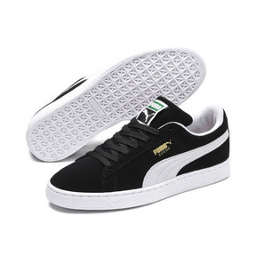 Thumbnail 2 of Suede Classic+ Sneaker, black-white, medium