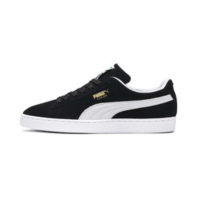 Thumbnail 1 of Suede Classic+ Sneaker, black-white, medium