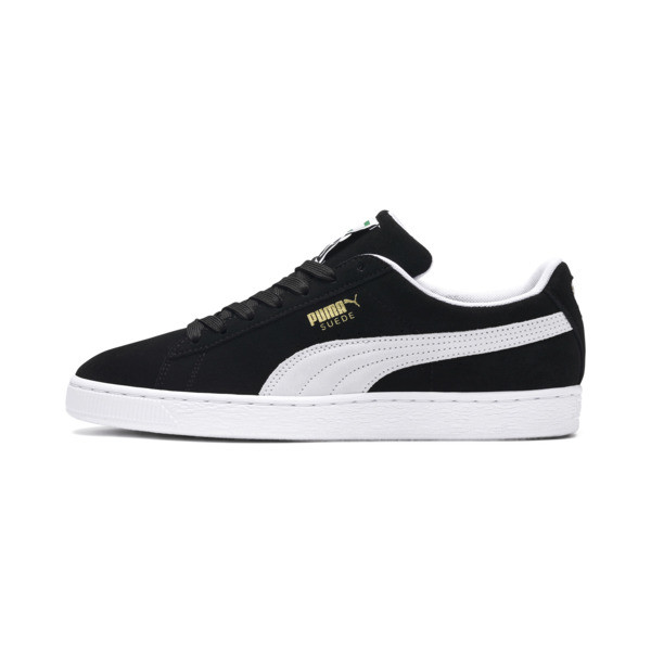 Suede Classic+ Men's Trainers, black-white, large