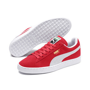 Thumbnail 2 of Suede Classic+ Men's Trainers, team regal red-white, medium