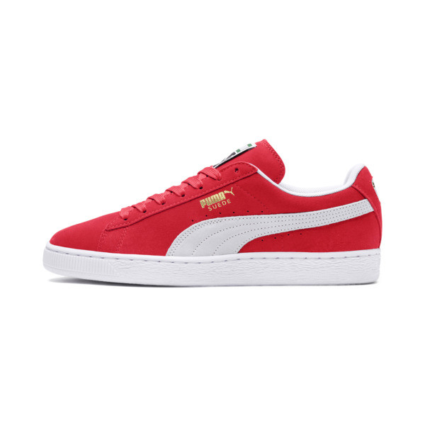 Basket Suede Classic+, team regal red-white, large