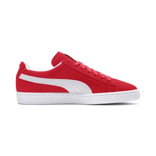 Suede Classic+ sneakers voor heren, team regal red-white, large