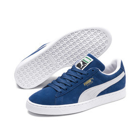 Thumbnail 2 of Suede Classic+ Men's Trainers, olympian blue-white, medium