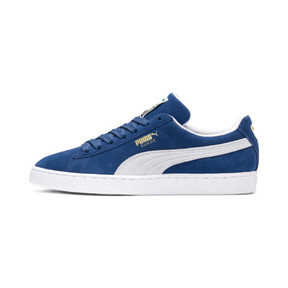 Thumbnail 1 of Suede Classic+ Sneakers, olympian blue-white, medium