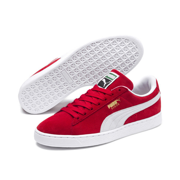 Suede Classic+ Sneakers, high risk red-white, large