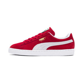 Thumbnail 1 of Suede Classic+ Sneaker, high risk red-white, medium