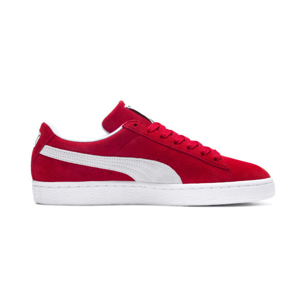 Suede Classic+ Sneaker, high risk red-white, large