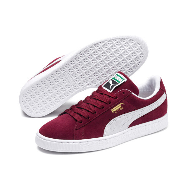Suede Classic+ Sneakers, cabernet-white, large