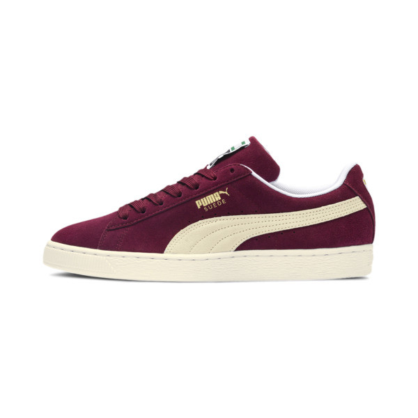 Suede Classic+ Men's Trainers, cabernet-white, large
