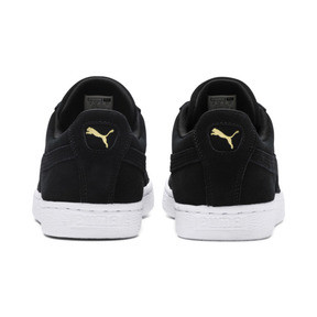 Thumbnail 3 of Suede Classic+ Men's Trainers, black-team gold-white, medium