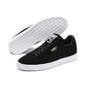 Thumbnail 2 of Suede Classic+ Men's Trainers, black-team gold-white, medium