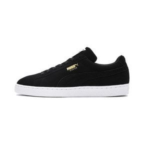 Thumbnail 1 of Suede Classic+ Men's Trainers, black-team gold-white, medium