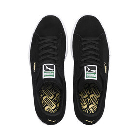 Thumbnail 6 of Suede Classic+ Men's Trainers, black-team gold-white, medium