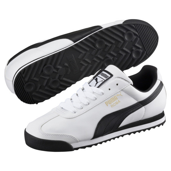 Roma Basic Trainers, white-black, large