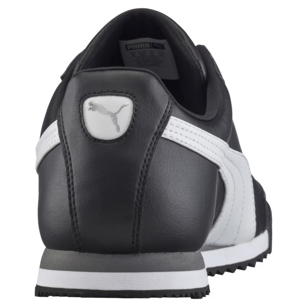 Roma Basic Trainers, black-white-puma silver, large