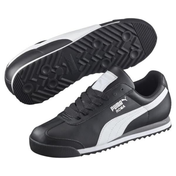 Roma Basic Sneaker, black-white-puma silver, large