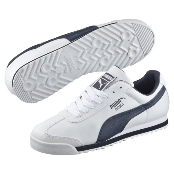 Zapatillas Roma Basic, white-new navy, grande