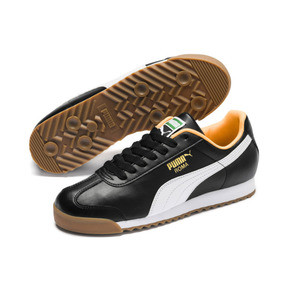 Miniatura 2 de Zapatos deportivos Roma Basic para hombre, Puma Black-Orange Pop, mediano